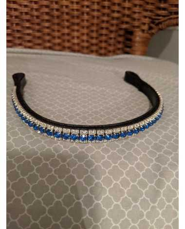 Gorgeous brand new blue and white browband