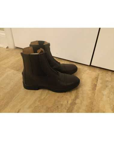 English Brown Leather Ladies Paddock Boot Size 8