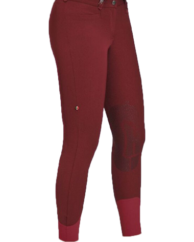 For Horses Emma Knee Grip Breeches in Bordeaux