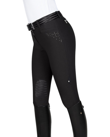 Equiline Carol Embellished Breeches in Blue