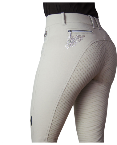Equiline Agate Breeches Full Seat in Beige for sale