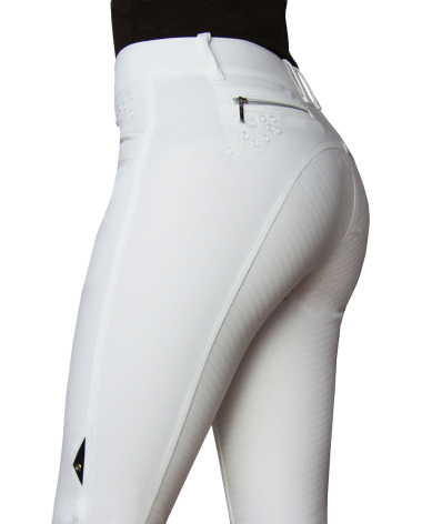 Equiline Agate Breeches Full Seat in White