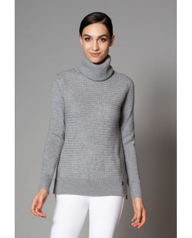 Asmar Amelia Turtleneck Sweater in Grey for sale