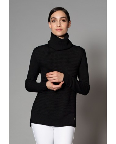 Asmar Amelia Turtleneck Sweater in Black for sale