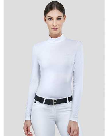Equiline Drilla Turtleneck Shirt in White for sale