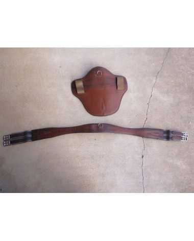 """Antares 50"""" with belly guard leather girth"""