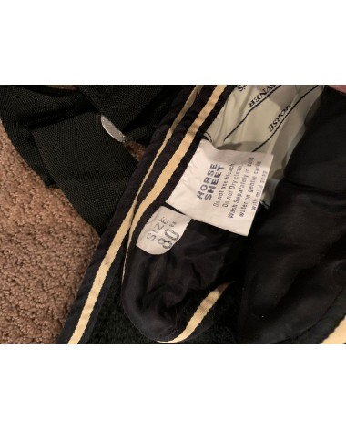 Black and tan Millers anti-sweat size 80