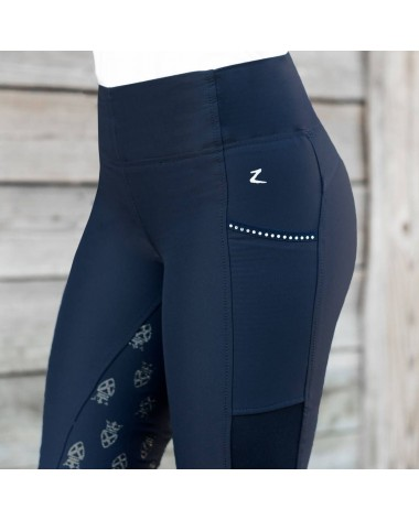 Horze Women's Leah Full Seat Tights - UV Protect