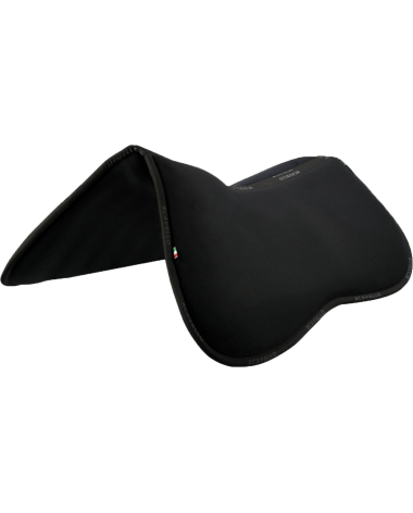 Acavallo Memory Foam Half Pad & Rear Riser AC202 in Black - Size M