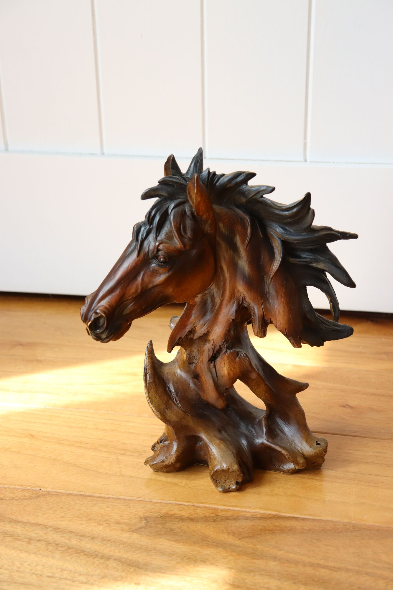 Small Wooden Horse Sculpture For Sale
