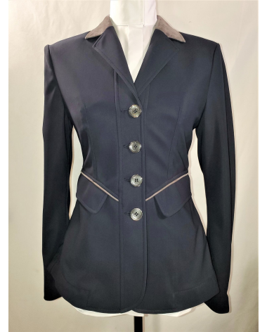 Grand Prix Saltare Premio Ladies Show Jacket - Navy/Grey - New!