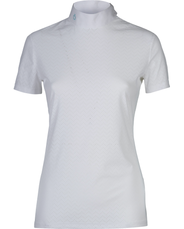 Cavalleria Toscana Show Shirt, wave Perforation in White
