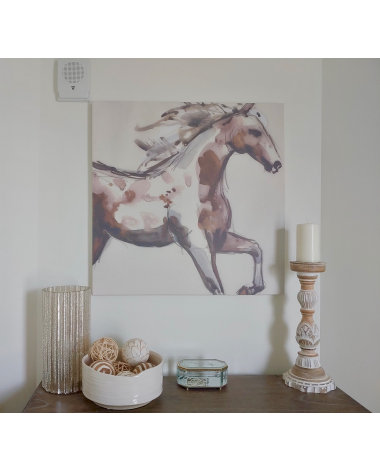 Watercolor Painted Horse on Canvas