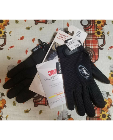 RSL Winter Riding Gloves with Thinsulate - Black - Size Small (7) - NWT