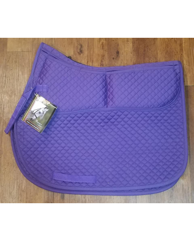 ECP Equine Comfort Products Purple Cotton Correctional AP Saddle Pad w Inserts