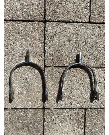 Pair of stainless steel spurs