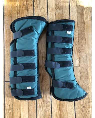 Toklat Shipping Boots - Horse Size - Green - Front & Hind