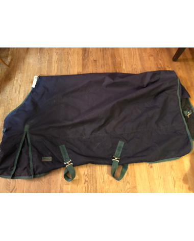 Rider's International Dover Saddlery Turnout Blanket Size 78 Excellent Condition Blue/Green
