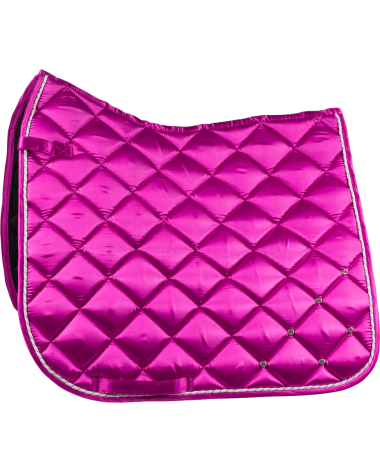 Radiance Dressage Satin Saddle Pad with crystals in Pink