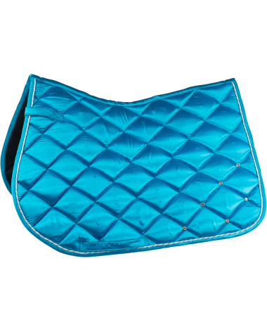 Radiance All Purpose Satin Saddle Pad with crystals in Blue