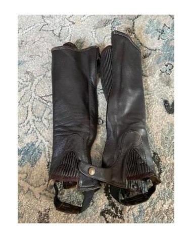 Adult Leather Half Chaps