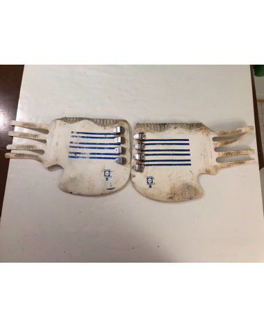 Good Condition Original Hamps Boots White and Blue