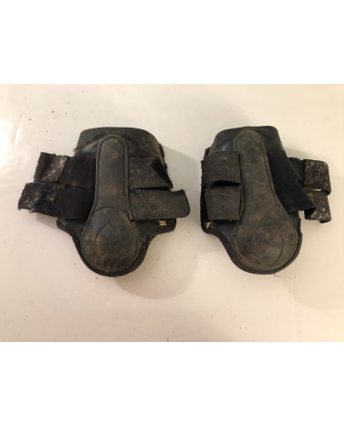 Good Condition Front Boots Black