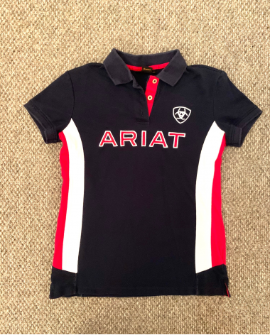 Ariat Team Polo Shirt in Navy/Red