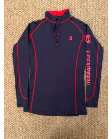 Tredstep Symphony Futura Long Sleeve Sport Top in Navy/Red