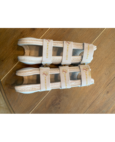 White Kavallerie open front boots