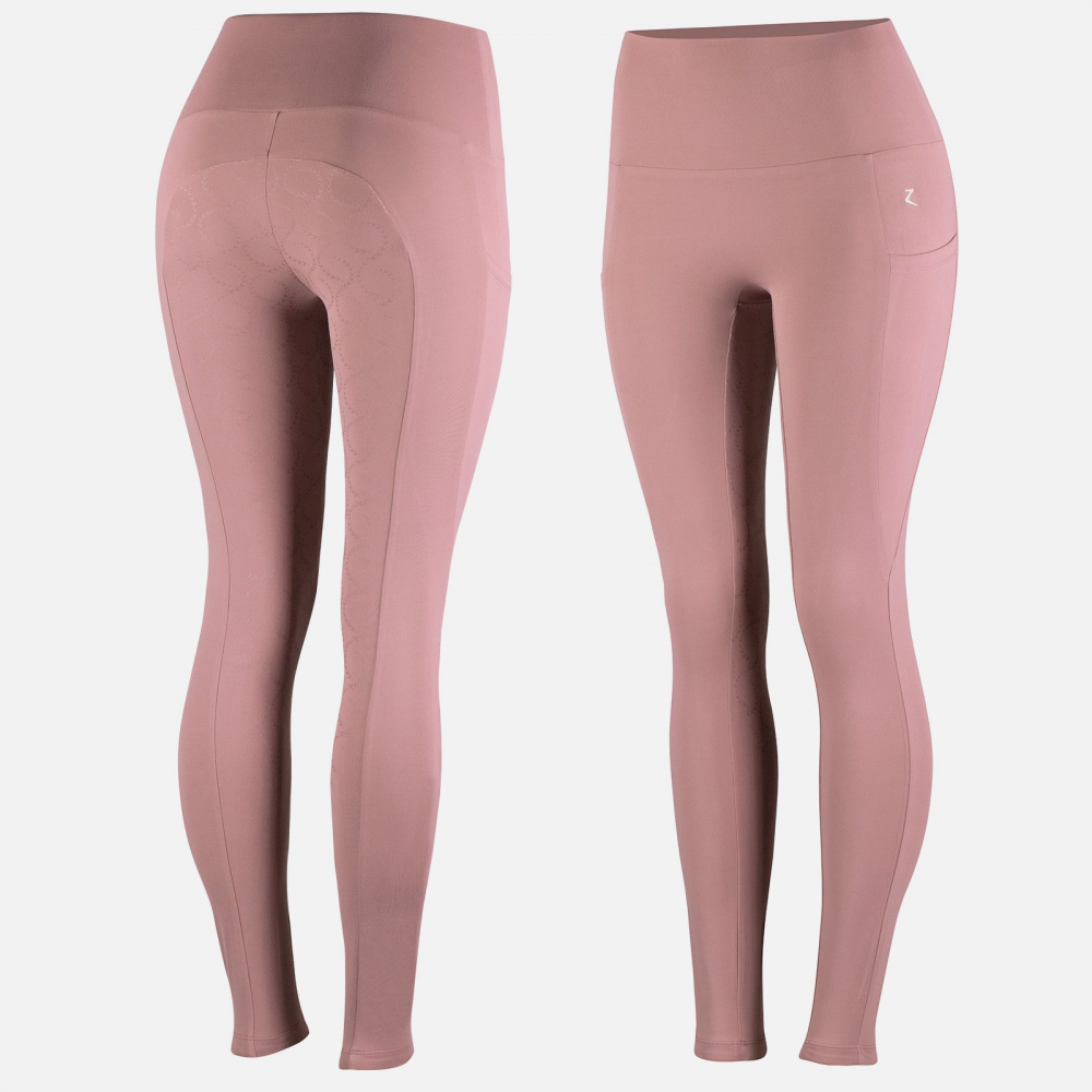 Horze Gracie Women's Silicone Full Seat Riding Tights in Pink
