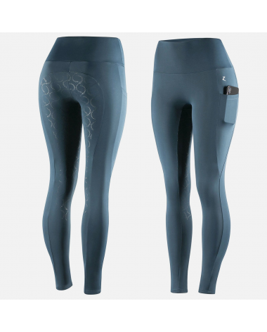 Horze Gracie Women's Silicone Full Seat Riding Tights in Blue