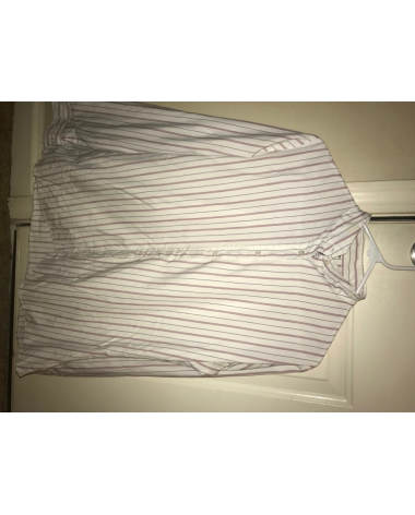 Pink and white striped shirt !OPEN TO OFFERS!