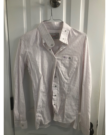 Winston white with pink stripes show shirt