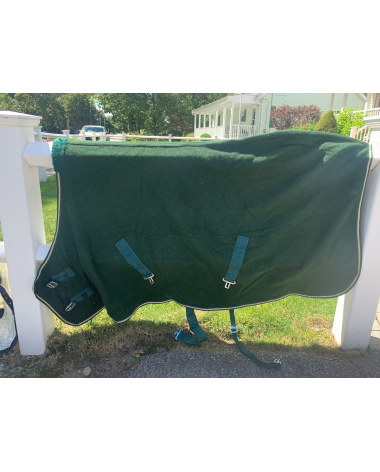 "Green 69"" Fleece Stable Sheet"