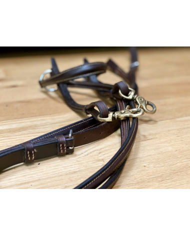 Bobby's English Tack Round Raised Breastplate And Standing Martingale Full Horse