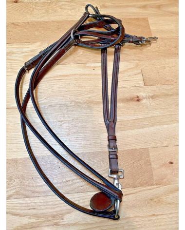 Quality Full Horse Size Leather Breastplate And Running Martingale Horse