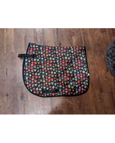 Lettia Multicolored Owls All Purpose AP Saddle Pad