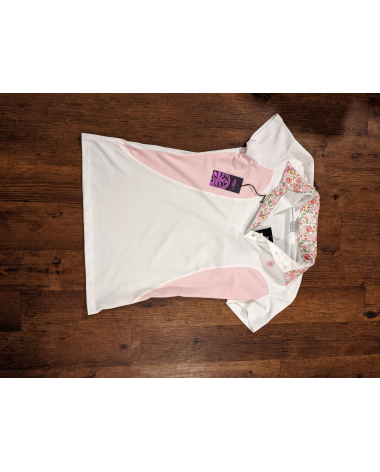 Ariat Pro Series Liberty Show Top - White/Blossom - NWT - XS