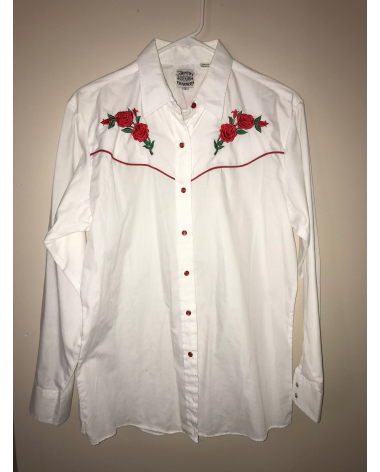 Country Charmers white floral button up