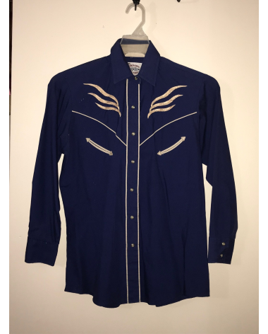 Country Charmers navy blue button up