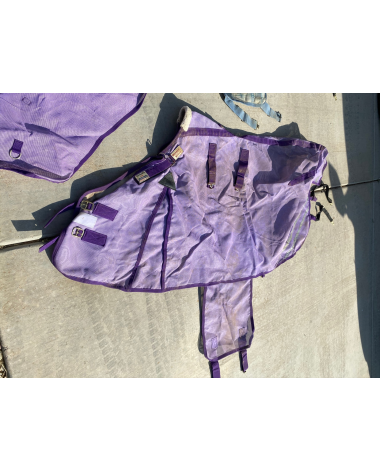 Purple fly sheet and neck