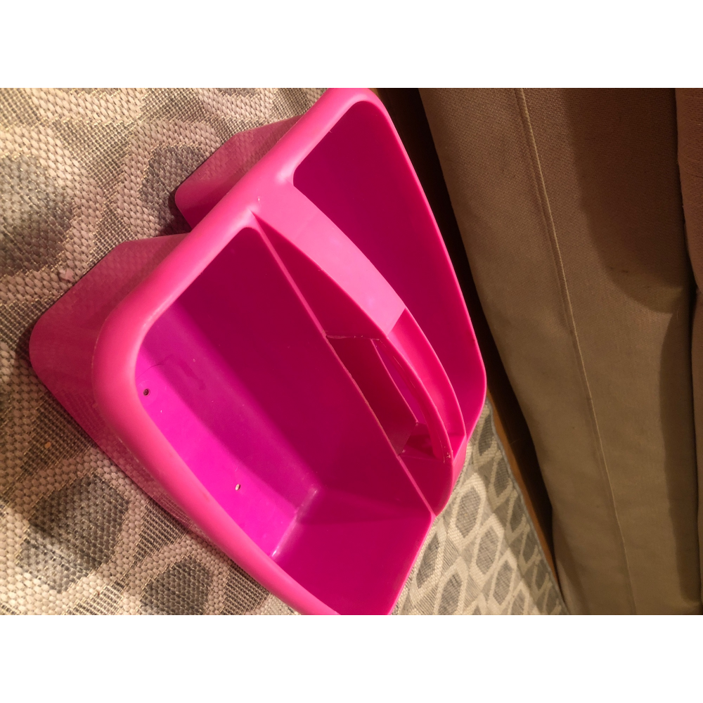 Pink Grooming Container- comes with some grooming supplies.
