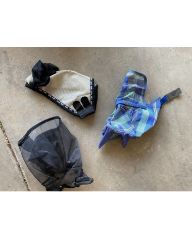 three different fly masks