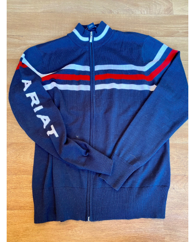 Ariat Full Zipper Logo Sweater size XL