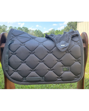 Equestrian Stockholm Saddle Pad with Matching Bonnet