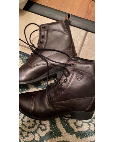 Excellent Condition Ariat Brown Paddock Boots Size 9.5