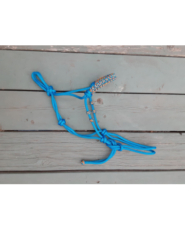 Fancy Rope Halter with Braided Noseband - Mini/Pony