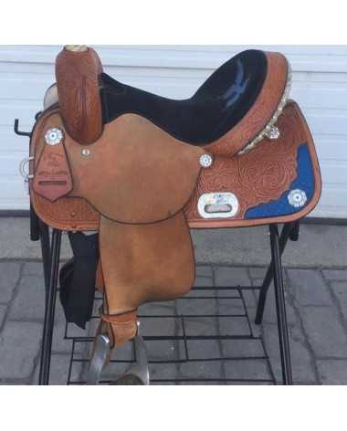 "Circle Y 14"" barrel saddle"