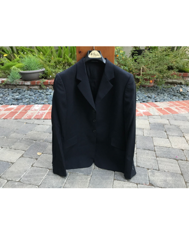Tailored Sportsman Show Coat | Size: 10/16 Regular | Navy check on Navy
